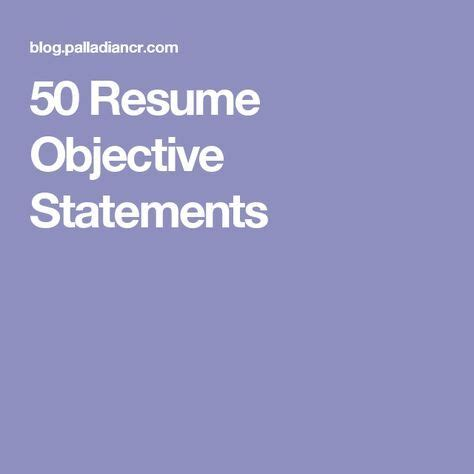 Best objective for resume